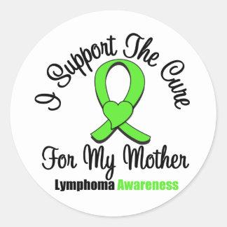 Apoyo la curación para mi madre pegatina redonda