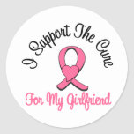Apoyo la curación para mi novia etiquetas redondas