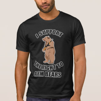 Apoyo la derecha de armar la camiseta de los osos camisas