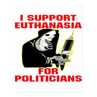 Apoyo la eutanasia para los políticos postales