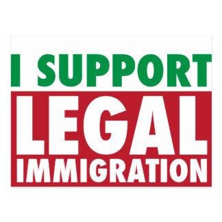 Apoyo la inmigración legal postal