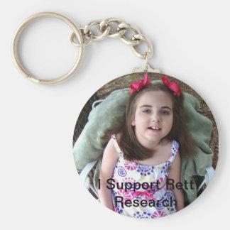 Apoyo la investigación de Rett Llavero Redondo Tipo Pin