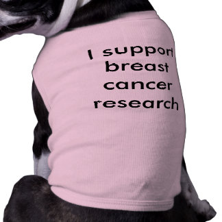 Apoyo la investigación del cáncer de pecho playera sin mangas para perro