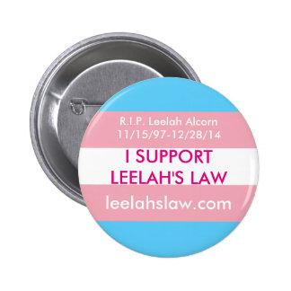 Apoyo la ley de Leelah Pin Redondo De 2 Pulgadas