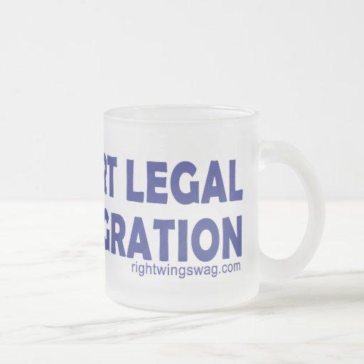 Apoyo la taza de la inmigración legal