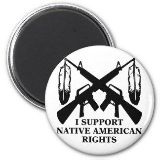 Apoyo las derechas del nativo americano imán de nevera