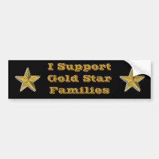 Apoyo las estrellas del oro etiqueta de parachoque