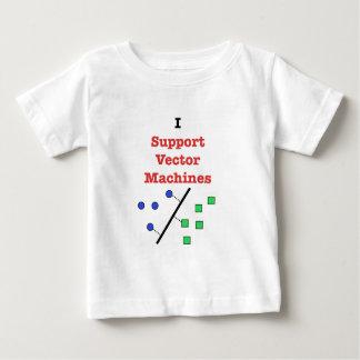Apoyo las máquinas del vector playera de bebé