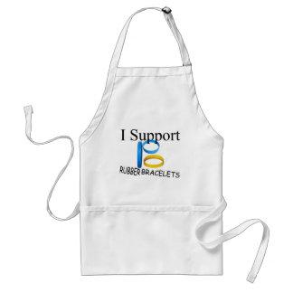 Apoyo las pulseras de goma delantal