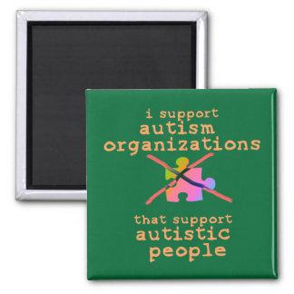 Apoyo los imanes de las organizaciones del autismo imán cuadrado
