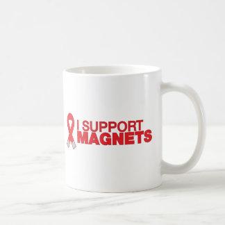 Apoyo los imanes tazas