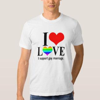 Apoyo matrimonio homosexual poleras