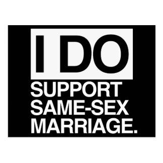 APOYO MATRIMONIO HOMOSEXUAL POSTAL