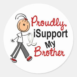 Apoyo mi Brother SFT (el cáncer del hueso/de Pegatina Redonda