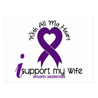 Apoyo mi epilepsia de la esposa tarjetas postales