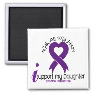 Apoyo mi epilepsia de la hija imán para frigorifico