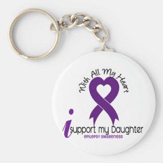 Apoyo mi epilepsia de la hija llavero redondo tipo pin