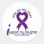 Apoyo mi epilepsia de la hija pegatinas redondas