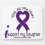 Apoyo mi epilepsia de la hija alfombrillas de raton
