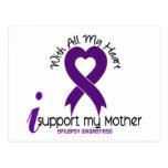 Apoyo mi epilepsia de la madre postal