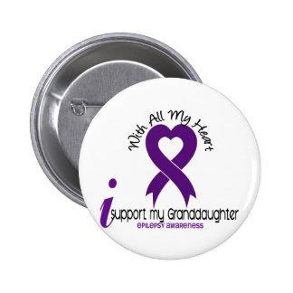 Apoyo mi epilepsia de la nieta pin redondo de 2 pulgadas