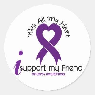 Apoyo mi epilepsia del amigo pegatina redonda