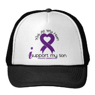 Apoyo mi epilepsia del hijo gorras de camionero