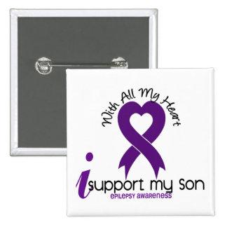 Apoyo mi epilepsia del hijo pin cuadrado