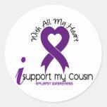 Apoyo mi epilepsia del primo etiqueta redonda