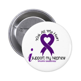 Apoyo mi epilepsia del sobrino pin redondo de 2 pulgadas