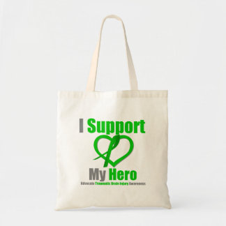 Apoyo mi lesión cerebral traumática del héroe bolsas