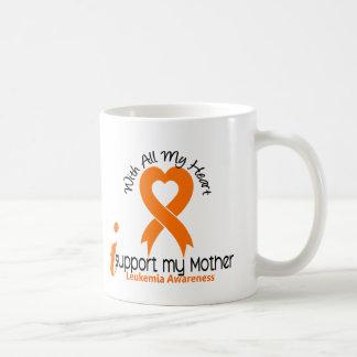 Apoyo mi leucemia de la madre taza