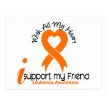 Apoyo mi leucemia del amigo tarjeta postal