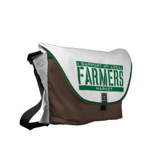 Apoyo mi mercado local de los granjeros bolsas messenger