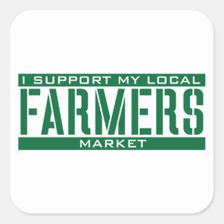 Apoyo mi mercado local de los granjeros etiqueta