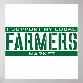 Apoyo mi mercado local de los granjeros póster