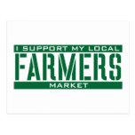 Apoyo mi mercado local de los granjeros tarjetas postales