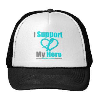 Apoyo mi recuperación del apego del héroe gorros bordados