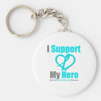 Apoyo mi recuperación del apego del héroe llavero personalizado