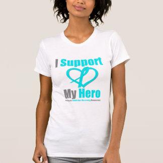 Apoyo mi recuperación del apego del héroe remera