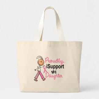 Apoyo mis camisetas del cáncer de pecho de la hija bolsa