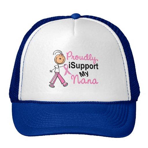 Apoyo mis camisetas del cáncer de pecho de Nana SF Gorras De Camionero
