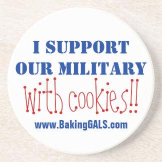 Apoyo nuestros prácticos de costa militares posavaso para bebida