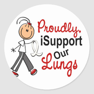 Apoyo nuestros pulmones SFT (la conciencia del Pegatinas Redondas