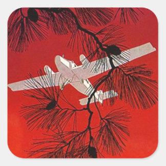 Apoyo plano FW del aeroplano de los pegatinas del Calcomanía Cuadradas