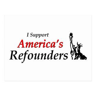 Apoyo Refounders de América Tarjetas Postales