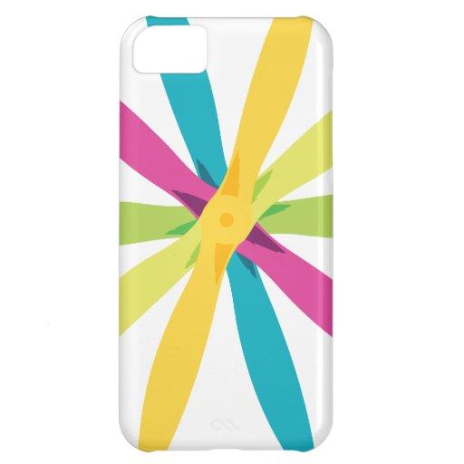 Apoyo retro Desig del aeroplano de la flor del pro Funda Para iPhone 5C