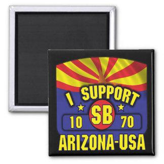 Apoyo SB1070 - Arizona los E.E.U.U. Imán Cuadrado