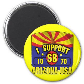 Apoyo SB1070 - Arizona los E.E.U.U. Imán Redondo 5 Cm