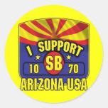 Apoyo SB1070 - Arizona los E.E.U.U. Pegatinas Redondas